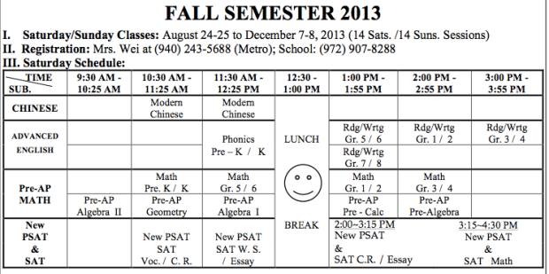 DCS Fall 2013 Schedule Online Cropped